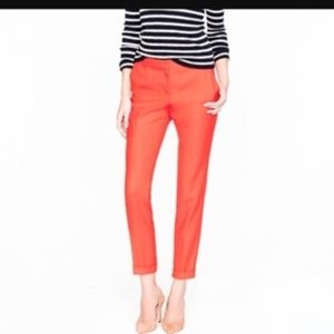J. Crew Wool Café Capri Pants Sz. 2 Red/Orange